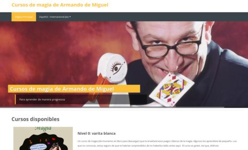 Suscripción a los cursos de magia progresivos de Armando de Miguel
